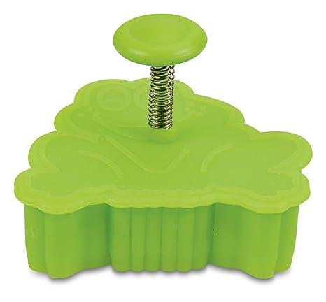 Staedter rana repujado molde para galletas con expulsor, verde, 5,5 cm