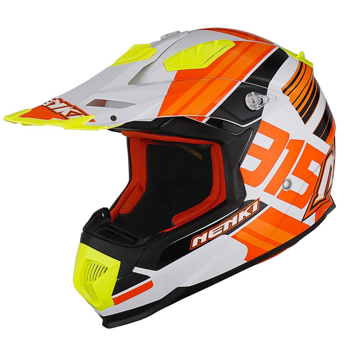 L NENKI Casco Motocross NK-315 ECE Omologato Donna Uomo