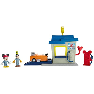 Fisher-Price Disney Mickey & the Roadster Racers, Roadster Ready Pit Stop Playset: Toys & Games