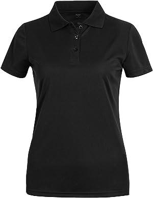 MOHEEN Women's Short Sleeve Polo Shirts Moisture Wicking Athletic Golf Polo