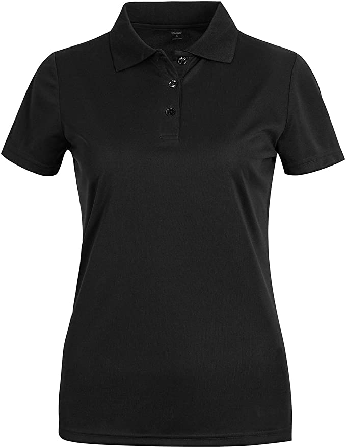 MOHEEN Women's Short Sleeve Polo Shirts Moisture Wicking Athletic Golf Polo