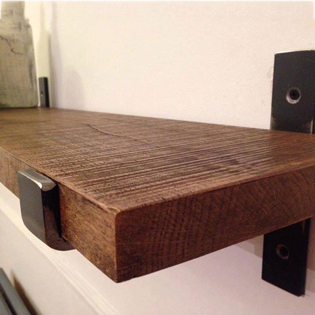 Wall-Mounted Separator Bookshelf Wrought Iron Wooden Industrial Wind Shelf Kitchen (Size : 40cm) by LTJTVFXQ-shelf (Image #4)