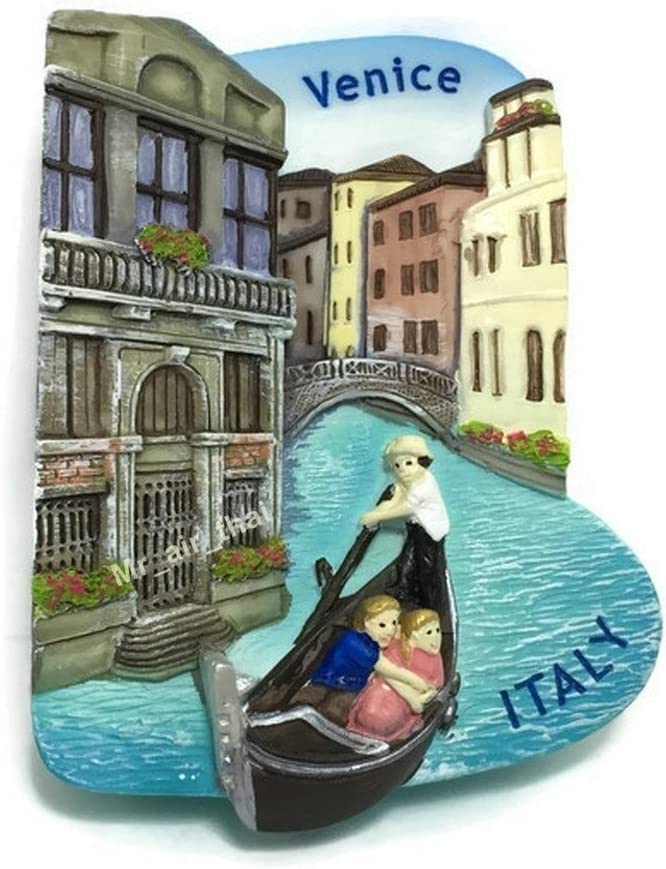 Mr_air_thai_Magnet_World Gondola Venice, Italy Souvenir Resin 3D Fridge Magnet Souvenir Tourist Gift