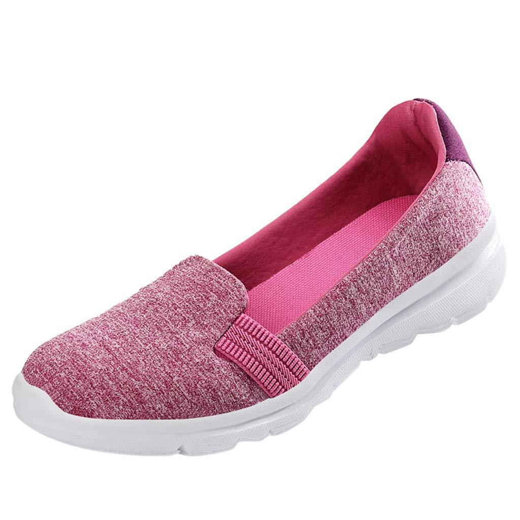 VonVonCo Women's Fashion Color Flat Shoes Comfortable Versatile Shoes Comfortab Pink