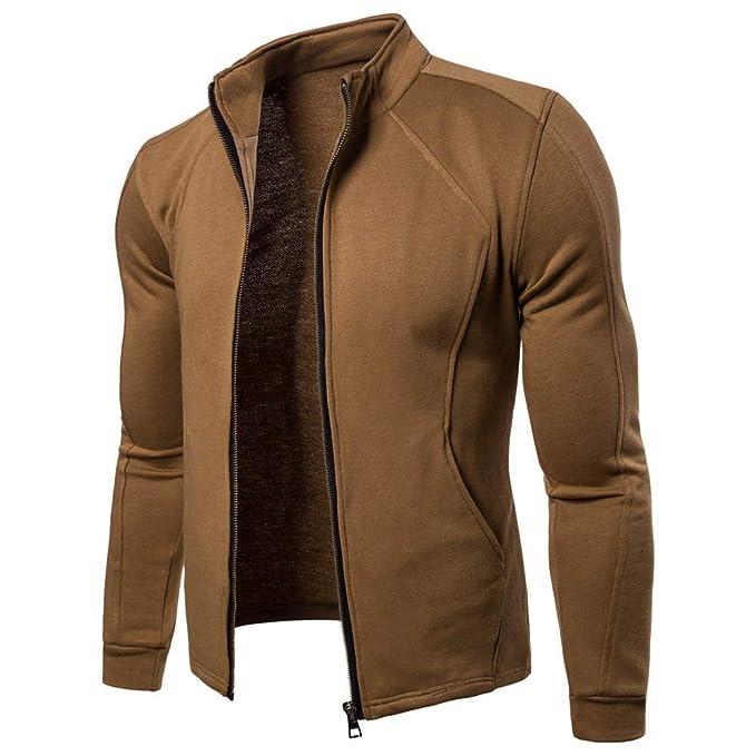 Amazon.com: Men Zipper Jacket,Casual Full Zip Fleece Jackets ...