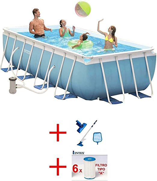 INTEX OFERTA PISCINA PRISMA METAL FRAME 400 X 200 X 100-KIT DE ...