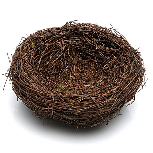 Jesse Handmade Vine Brown Bird Nest House Home Wedding Party Cute Nature Craft Holiday Decor Decoration (5.9inch Diameter)