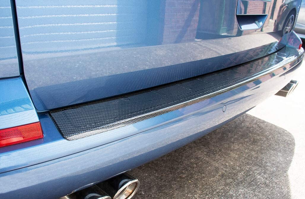 Chromeline TO FIT VW T6 TRANSPORTER-CARAVELLE-MULTIVAN 2015-2019 REAR BUMPER PROTECTOR SILL COVER GUARD REAL CARBON FIBER