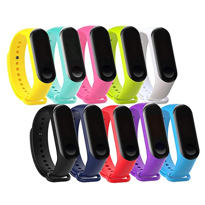 10 Pack Xiaomi Mi Band 3 Bracelet-Budesi Silicone Xiaomi 3 Smartwatch Replacement Wristbands Bands Strap