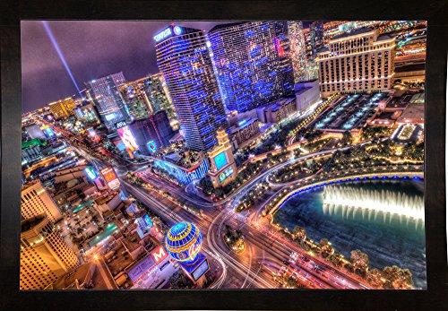 "Frame USA Vegas II Framed Print 24.0""x36.0"" by Moises Levy-MOILEV141268, 24x36, Affordable Black Medium"
