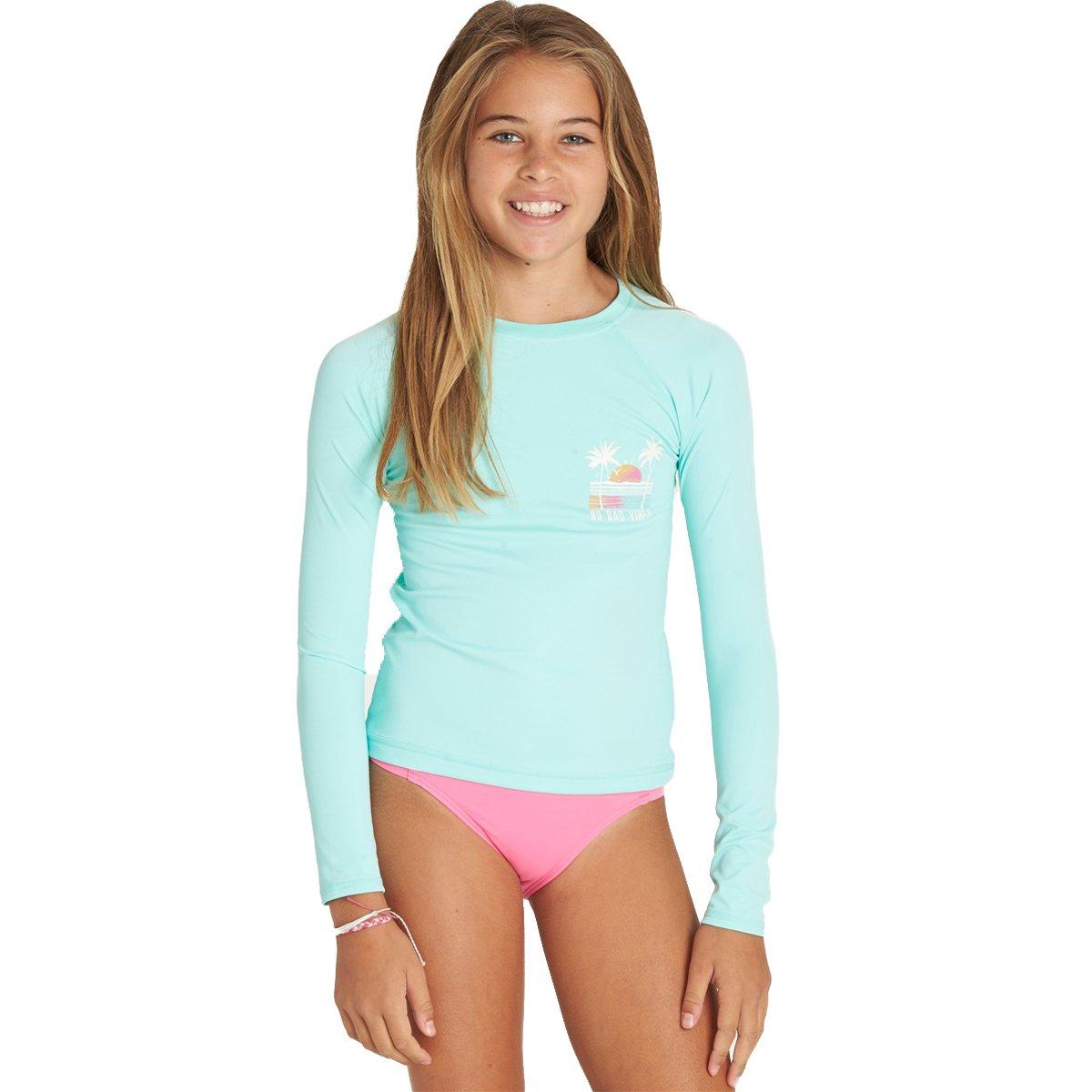 Billabong Little Girls' Sol Searcher Long Sleeve Rashguard, Beach Glass, 6X