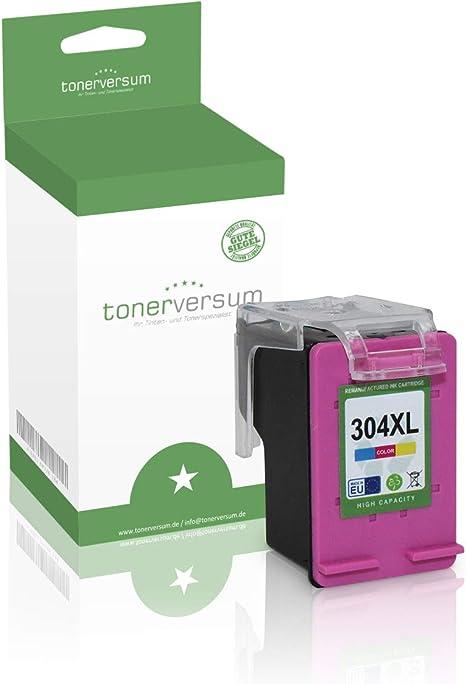 Cartucho de Tinta Compatible con HP 304XL N9K07AE Color para ...