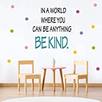 Colorful Inspirational Lettering Quote Wall Decal Be Kind