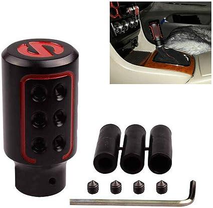 SMKJ - Pomo para palanca de cambios de aluminio Spc, para cambio manual o automático, sin botón de bloqueo: Amazon.es: Coche y moto
