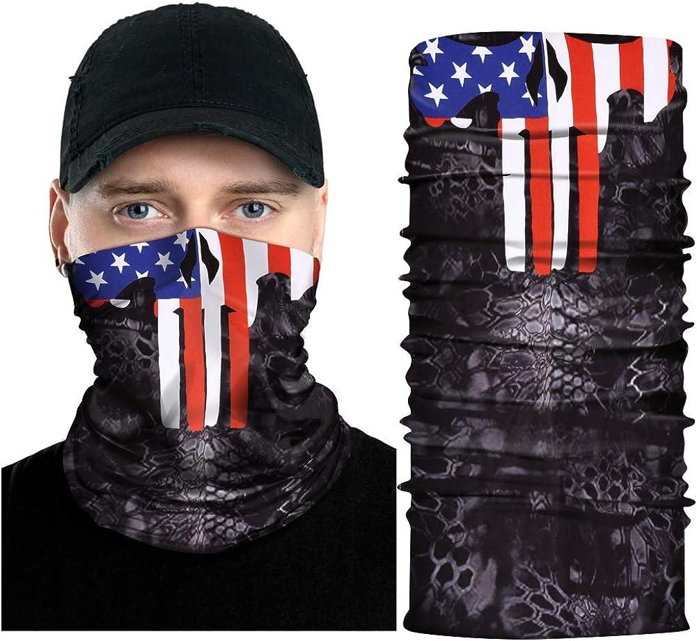 DoYay Cool Skull Face Cover Mask Skeleton Bandana Neck Gaiter Balaclava Sun Dust Protection