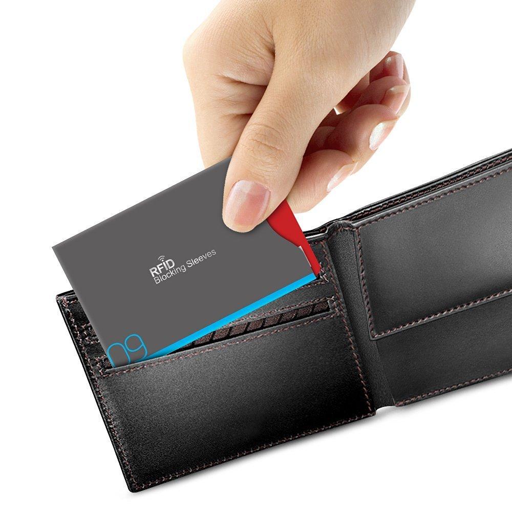 Aerb カードケース RFIDスキミング防止 薄型 防水 クレジットカード パスポート対応 横入れ・縦入れ式 14枚セット (灰)