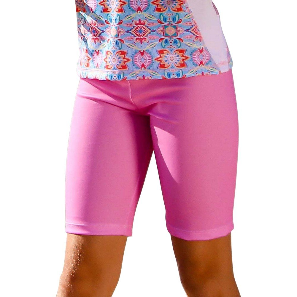 Sun Emporium Big Girls Milkshake Pink Summer Daze Print Surfer Shorts 8-12