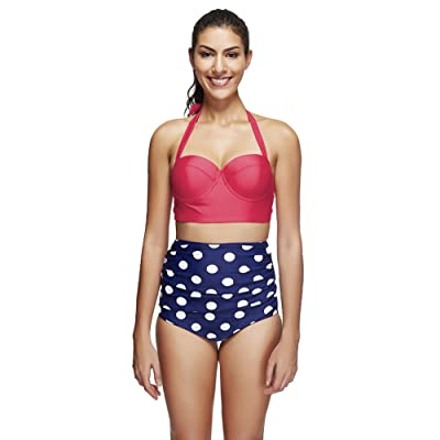 GAOLIM Maillot De Bain/Femmes D'Été De Split Point Vague Rouge/Maillot De Natation Sports Maillot De Gué