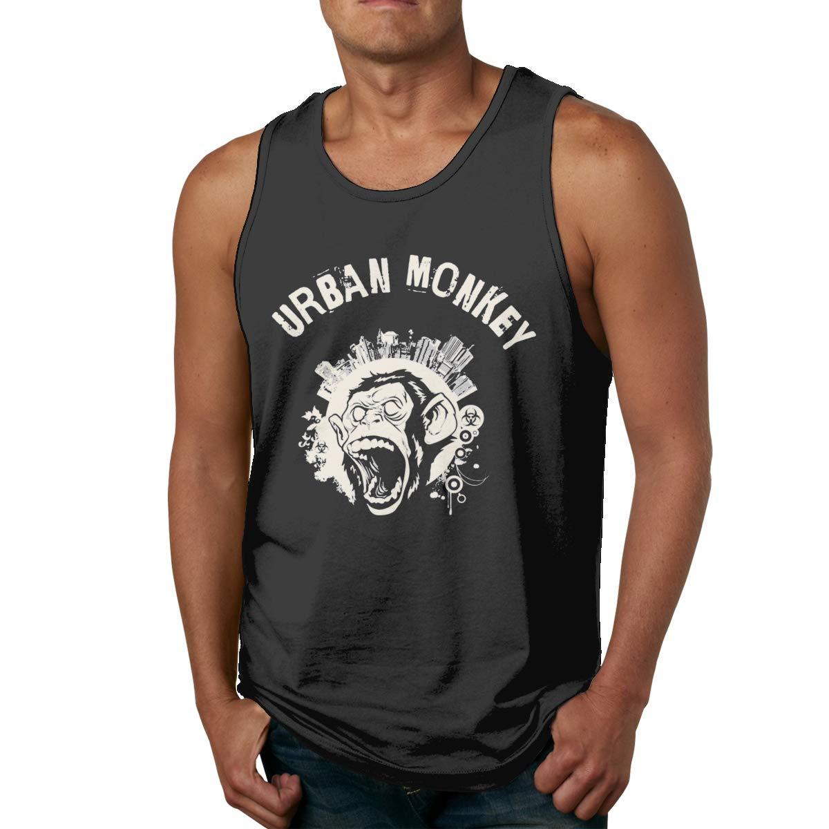LLXM Urban Monkey Men Printed Vest Sports Tank-Top T Shirt Leisure Tees Sleeveless Shirts