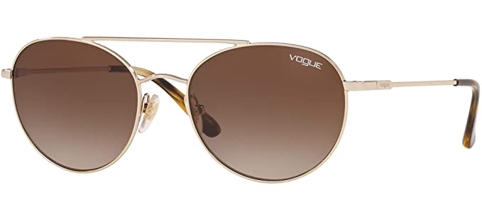 Gafas de Sol Vogue VO 4129S GOLD/BROWN SHADED mujer: Amazon ...