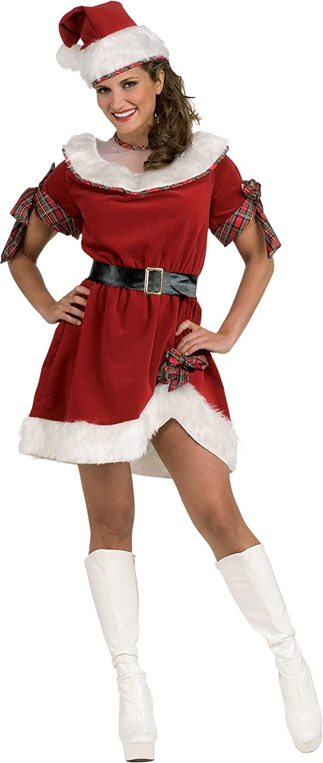 sc 1 st  Amazon.com & Amazon.com: Secret Wishes Ms. Santa Dress Red/White One Size: Clothing