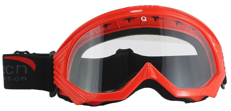 Yellow Qtech Adjustable Kids X1 GOGGLES Motocross ATV Racing Mx Dirt Bike with Anti Scratch clear Lens