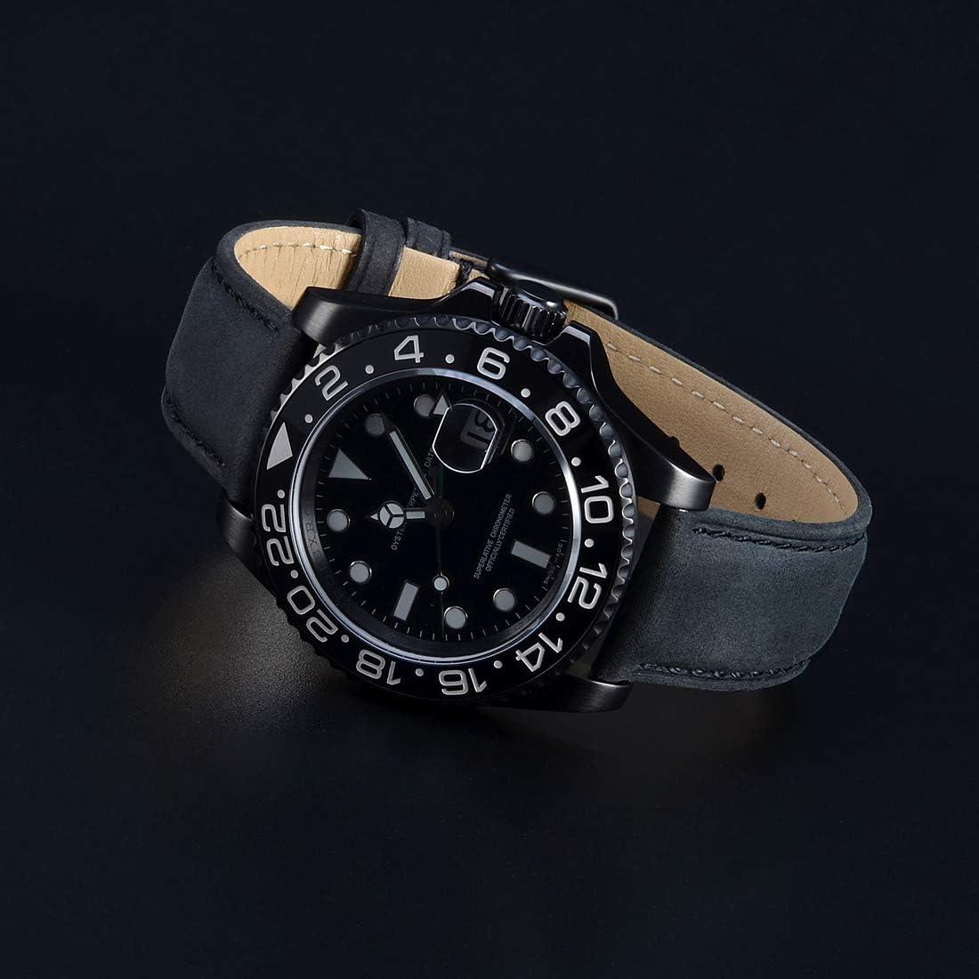 Si adatta ORIS Marrone Scuro Cinturino Orologio Vera Pelle Cinturino Per Fibbia Fibbia 12-24mm