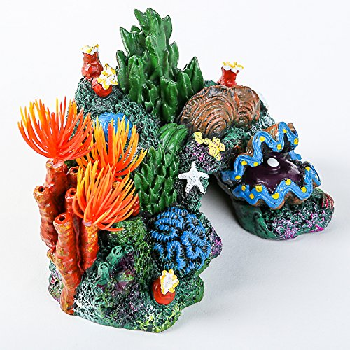 Amazon.com : SLSON Aquarium Coral Rock Decoration Vivid Mountain Cave Environments Ornaments Fish Tank Resin Deorations : Pet Supplies