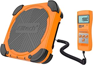 Elitech LMC-200 Electronic Refrigerant Charging Weight Recovery Scale Wired Remote, Freon Scale 220lbs/100kgs