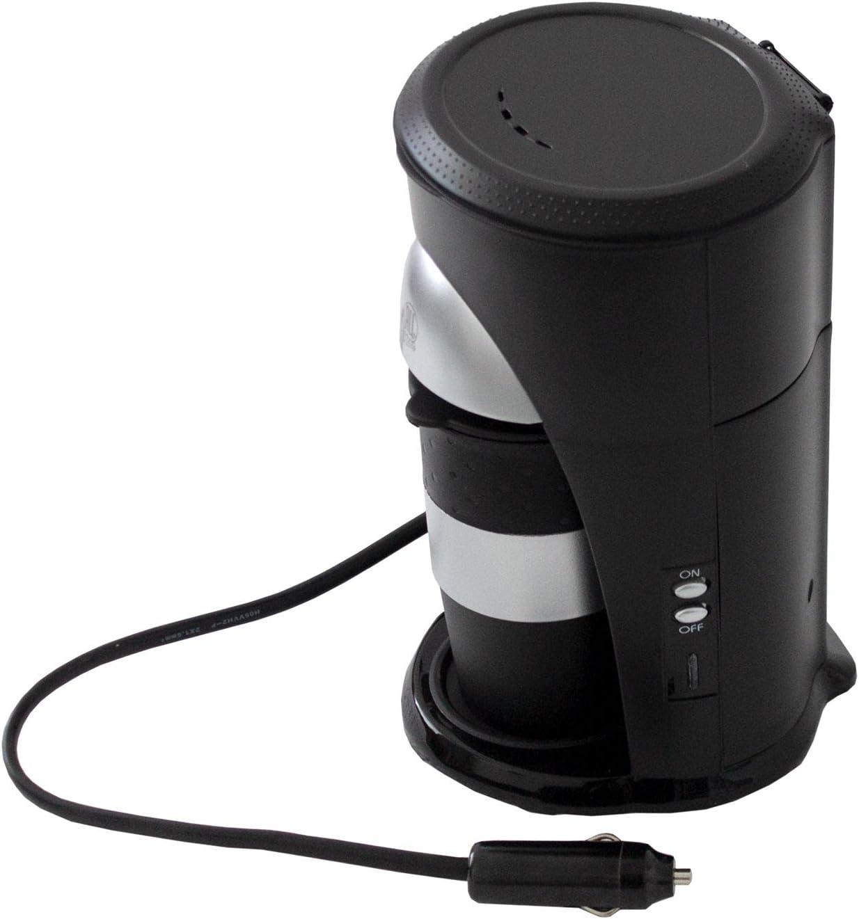MULTISTORE 2002 Cafetera con taza de café, 24 V / 300 W, conexión para encendedor del coche, máquina de café de viaje, camión, barco o caravana