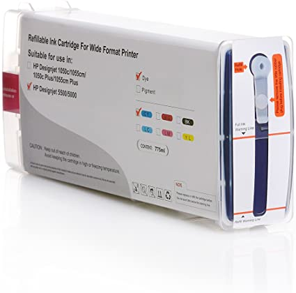 No. 81 – Cartucho de tinta para HP Designjet 5000, 5500, 775 ml Nova de X HP Premium Dye de tinta, color Marenta: Amazon.es: Oficina y papelería