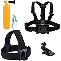 Accessories for GoPro, HONREE Accessories Pack Head Chest Strap Yellow Hand Grip Floating Mount Go Pro Accessories Action Camera Kit for GoPro Hero 5 Hero Session AKASO EK7000 APEMAN and Most of Sports Camera