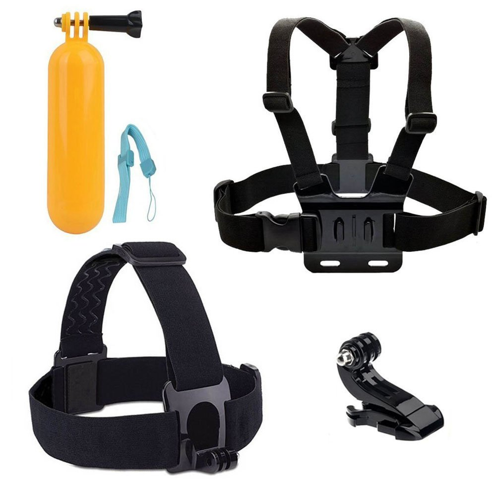 Accessories for GoPro, HOMREE Accessories Pack Head Chest Strap Yellow Hand Grip Floating Mount Go Pro Accessories Action Camera Kit for GoPro Hero 5 Hero Session AKASO EK7000 APEMAN and Most of Sports Camera