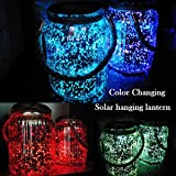 Hanging Solar Lantern Lights Outdoor 2 Pack,20 LED