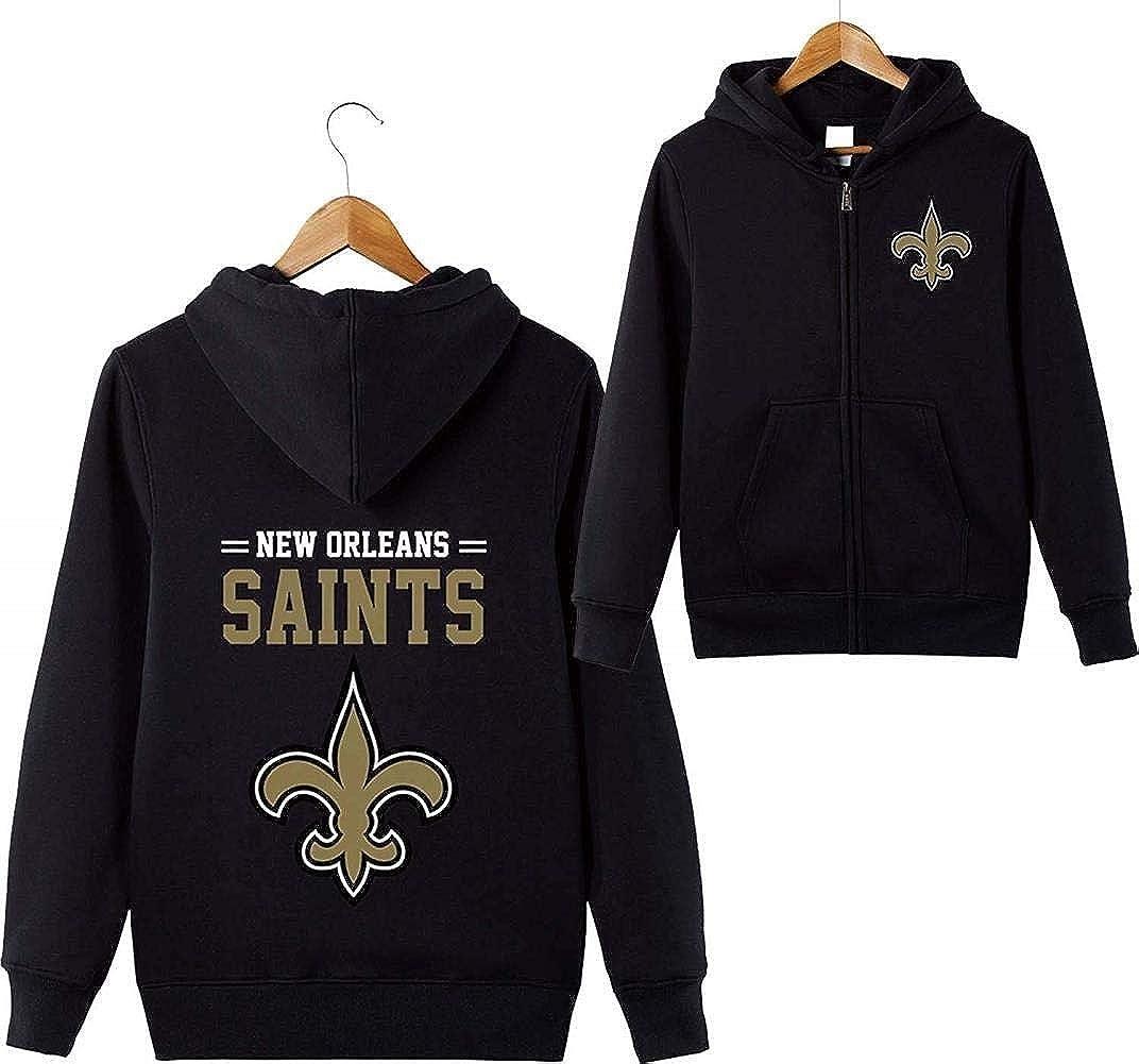 ASSD Mens 3D Hoodies New Orleans Saints Football Team Uniform Pattern Digital Print Cardigan Zip Lovers Hoodie
