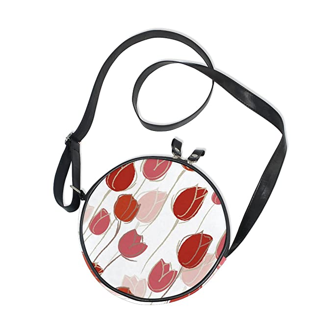 Image Unavailable. Image not available for. Color  AHOMY Girls Crossbody bag  Tulip Flower Fashion Mini Schoolbag Kids Purse 62eb3c81102fc