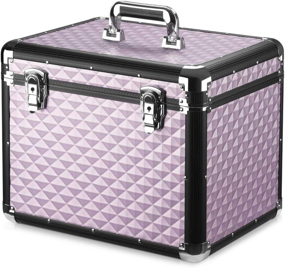 Navaris Caja para Accesorios para Caballos - Baúl de Aluminio para almacenaje y Transporte de Herramientas de Limpieza Cuidado de Caballo - Oro Rosa