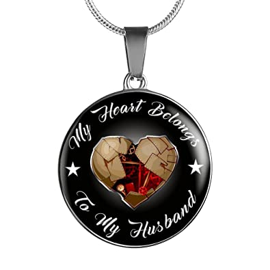 To My Husband Necklace Men Pendant