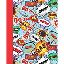 Journal: Comic Speech Bubbles 8x10 - LINED JOURNAL - Writing journal with blank lined pages