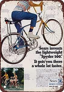 1970 Sears Spyder 500 Bicicletas Vintage Look Reproducción Metal ...