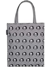 Out of Print Literary and Book-Themed Canvas Tote Carrying Bag for Book Lovers,