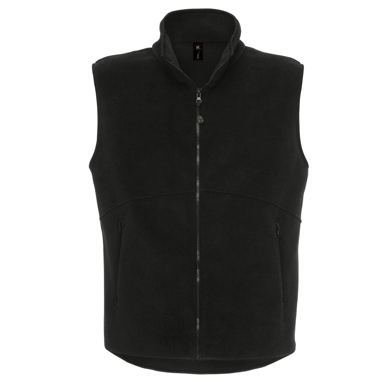 B&C Collection Mens Ba503 Traveller+ Fleece Jacket Black Xs