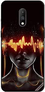 For OnePlus 7 Case Cover Head Phone Head & Brain