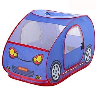 Yhjklm Tenda per Bambini Gioco per Bambini Tenda da Gioco ventilata per Bambini all'aperto a Forma di Auto per Bambini Tenda per Indoor Outdoor