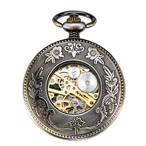 TREEWETO-Mechanical-Skeleton-Pocket-Watch-Lucky-Phoenix-Dragon-Hollow-Case-Fob-Pocket-Watches