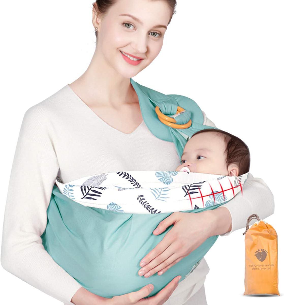 Upchase Fular Portabebés, Ergonómico Porteo Bebe. Unisex Ajustable; Para Padres. la Mochila Portabebes Multiusos Apropiada Hasta 15 kg, Verano e Invierno, Sling Wrap
