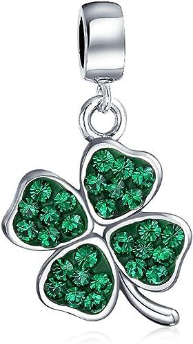 925 Sterling Silver Irish Shamrock Clover Charm Pendant