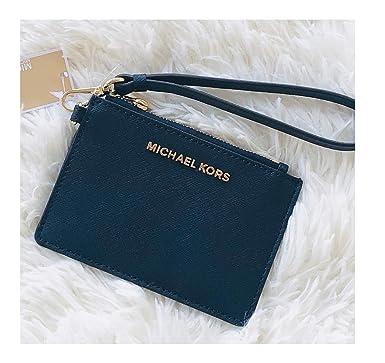 new products 92e4c 3c4d7 Michael Kors Jet Set Travel Coin Purse Wristlet Card Case Wallet