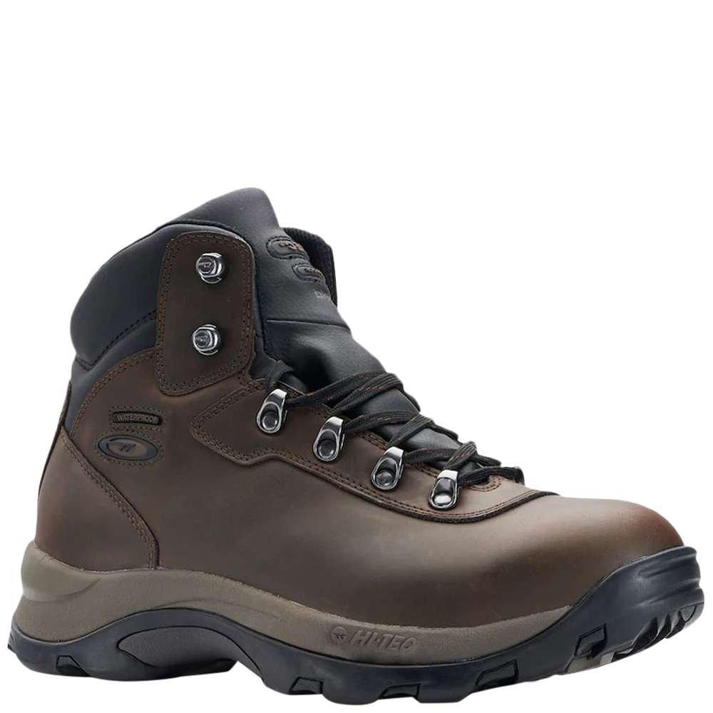 Hi-Tec Mens Peak Mid WP I Boots Brown