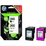 HP 300 2-pack Combo Black/Tri-colour Original Ink Cartridges